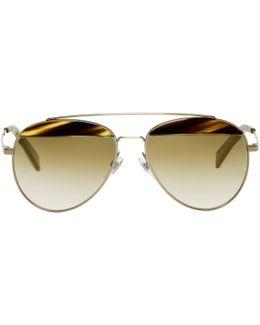 Gold Paon Aviator Sunglasses