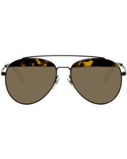 Black Paon Aviator Sunglasses