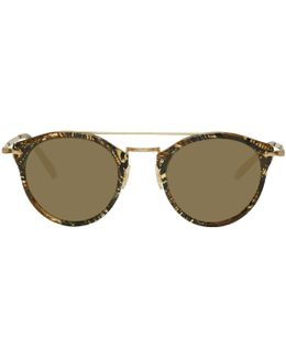 Gold & Brown Remick Sunglasses