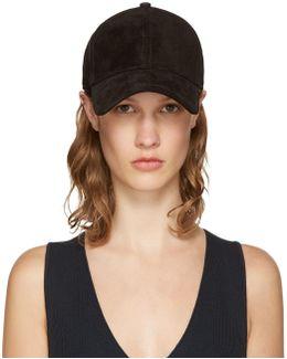 Black Suede Marilyn Baseball Cap