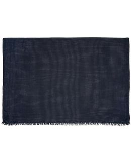 Navy Buckley Scarf