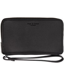 Black Phone Wristlet Wallet