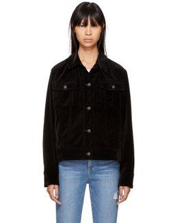Black Oversized Velvet Jacket