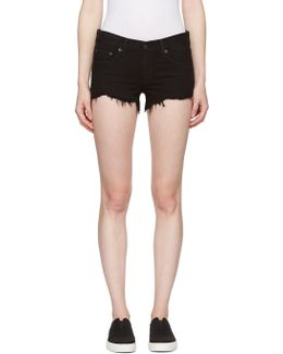 Black Cut-off Jean Shorts