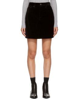 Black Velvet Dive Skirt
