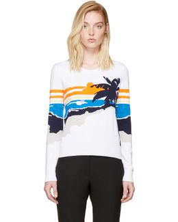 White Nicki Graphic Pullover
