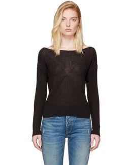 Black Gretchen Single-shoulder Pullover