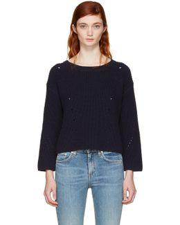 Navy Lara Sweater