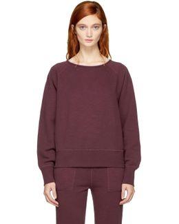 Burgundy Cropped Classic Sweatshirt