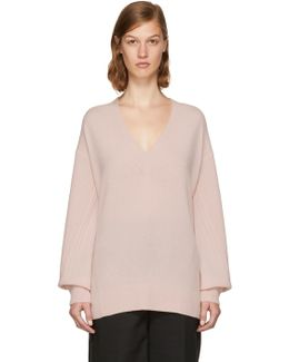 Pink Cashmere Ace Sweater