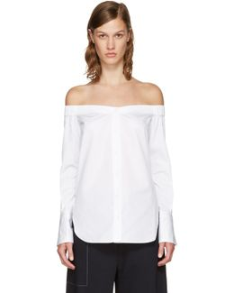 Ssense Exclusive White Kacy Off-the-shoulder Blouse