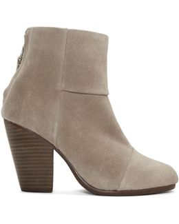 Grey Suede Classic Newbury Boots