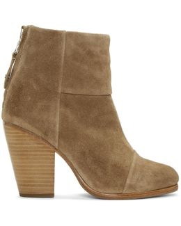 Tan Suede Classic Newbury Boots