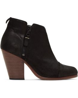 Black Suede Classic Margot Boots