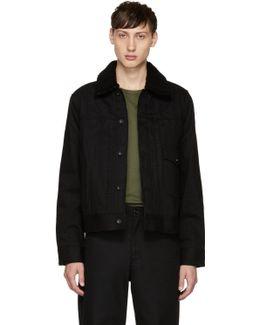 Black Denim Bartack Jacket
