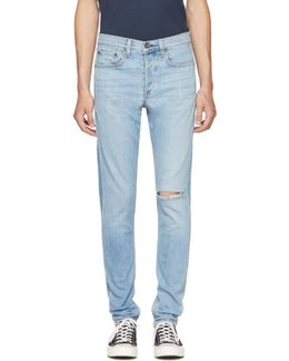 Blue Standard Issue Fit 1 Extra Slim Jeans