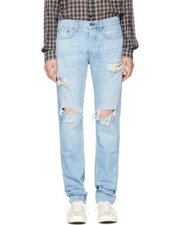 Ssense Exclusive Blue Standard Issue Fit 3 Jeans