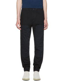 Black Engineered Workwear Chinos