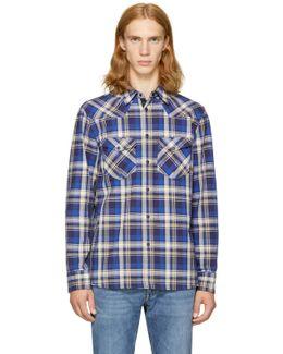 Blue Plaid Walker Shirt