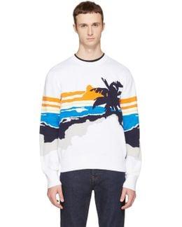 White Brody Graphic Sweater
