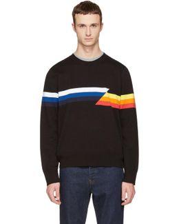 Black Glitch Graphic Sweater