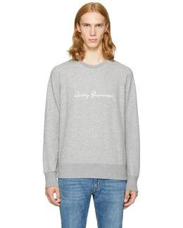 Grey 'quality Guaranteed' Sweatshirt