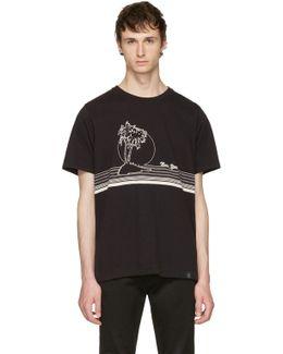 Black 'new York' Palm T-shirt