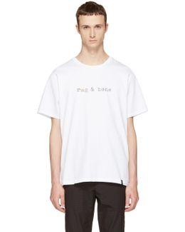 White Glitch Logo T-shirt