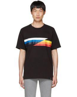 Black Glitch Stripe T-shirt