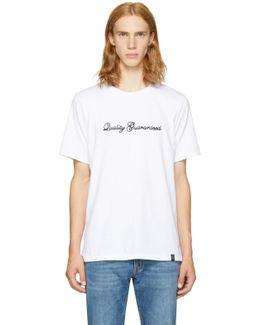 White 'quality Guaranteed' T-shirt