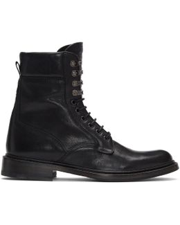 Black Spencer Military Boots