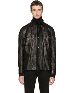 Black Leather Woodbridge Jacket