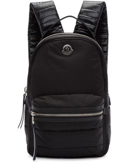 Black Nylon Georgette Backpack