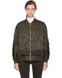 Green Aralia Bomber Jacket