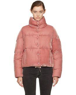 Pink Velvet Down Cercis Jacket