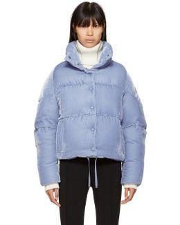 Blue Velvet Down Cercis Jacket