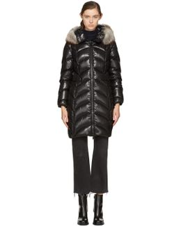 Black Down Albizia Coat