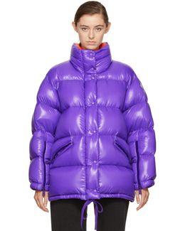 Purple Oversized Down Callis Jacket