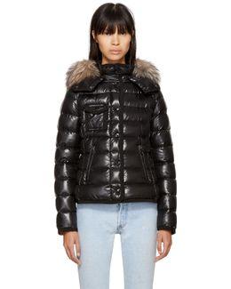 Black Down Fur Armoise Jacket