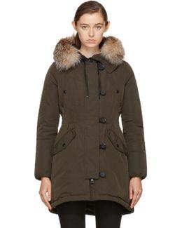 Green Down & Fur Arehdel Coat