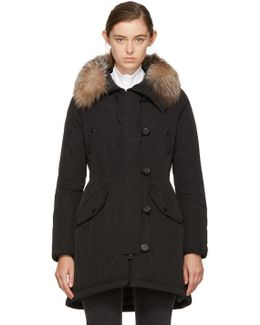 Black Down & Fur Arehdel Coat
