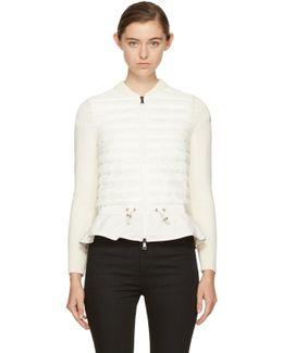 Off-white Down Knit Peplum Jacket