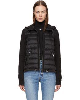 Black Down & Jersey Jacket