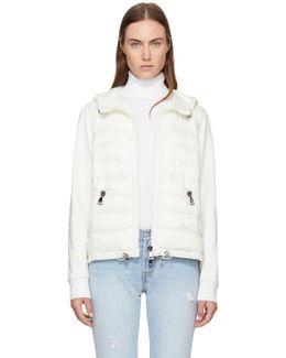 White Down & Jersey Jacket