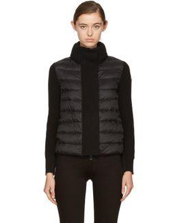 Black Down & Knit Jacket