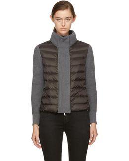 Black & Grey Down Knit Jacket