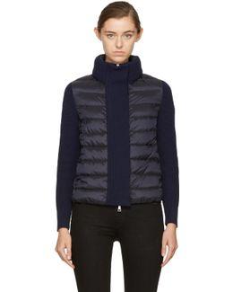 Black & Navy Down Knit Jacket