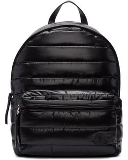 Black Quilted Nylon Backpack