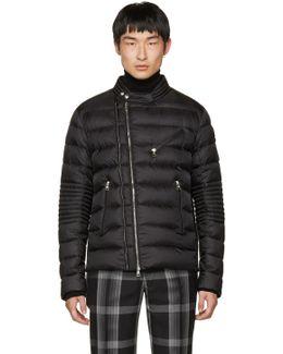 Black Down Aubin Biker Jacket