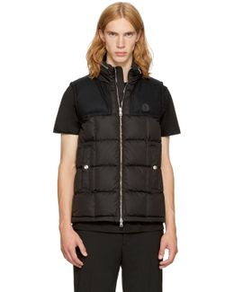 Black Down Cesar Vest